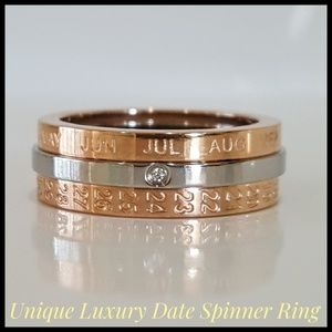 🎉HP🎉 Spinner Ring, Two-Tone, Date, New, Size 6